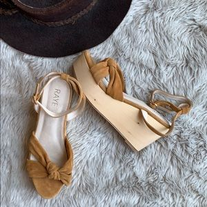 RAYE suede knit wedge